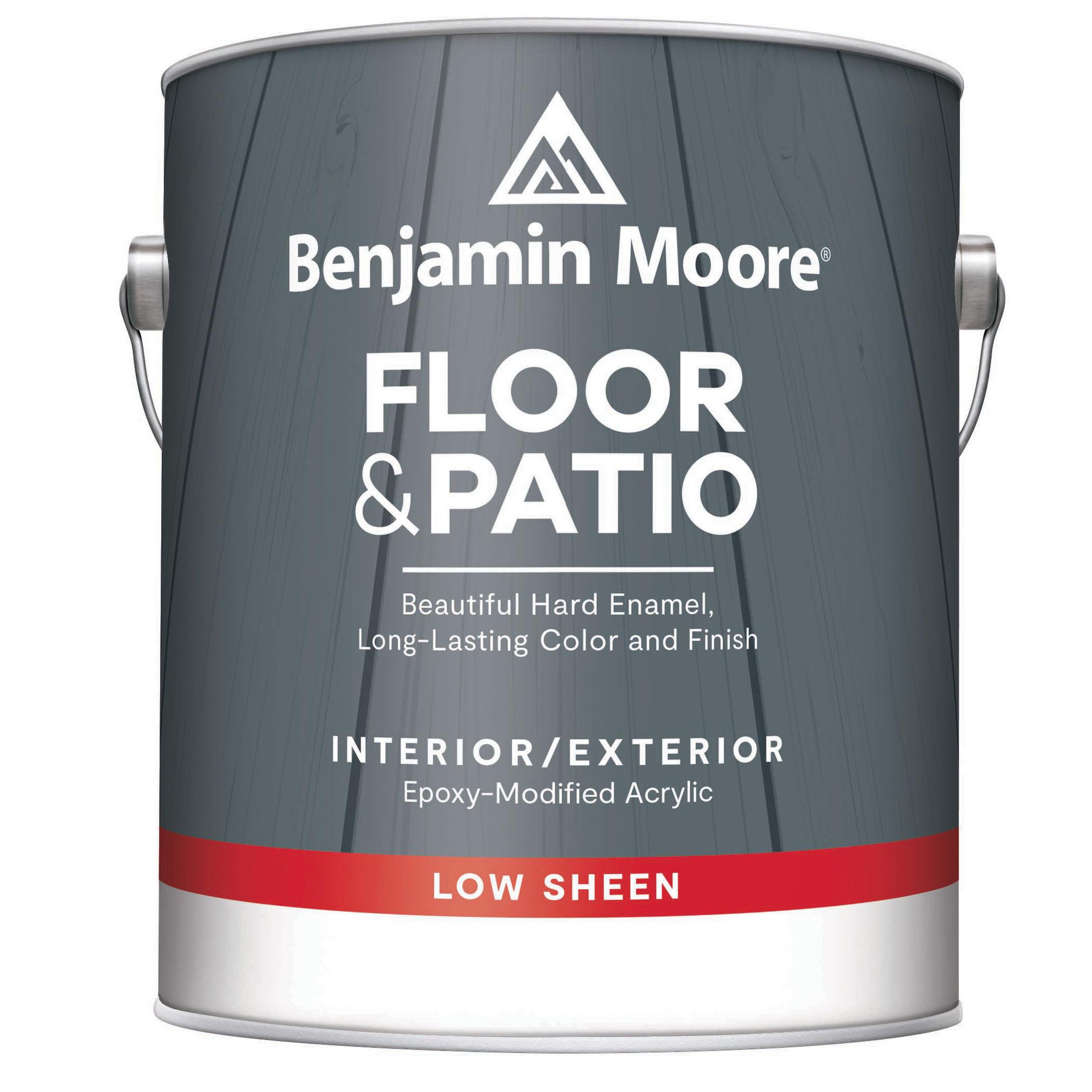 Picture of Benjamin Moore N122-01-001 Floor/Patio Enamel, White, 1 gal Package