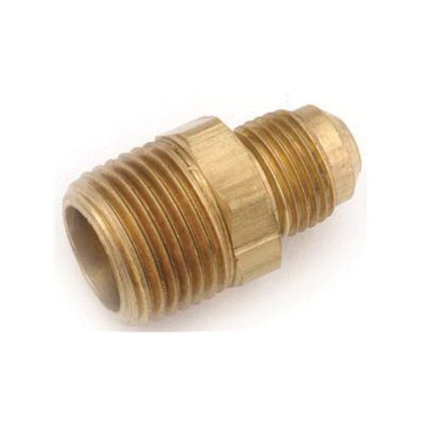 Picture of Anderson Metals 754048-1012 Pipe Connector, 3/4 x 5/8 in, MPT x Flare, Brass, 650 psi Pressure