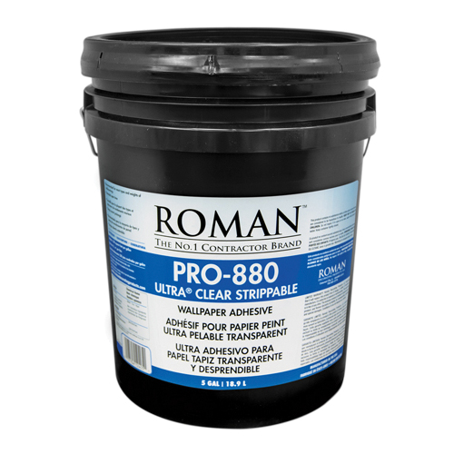 Picture of ROMAN PRO-880 Wallcovering Adhesive, Clear, 1 gal Package