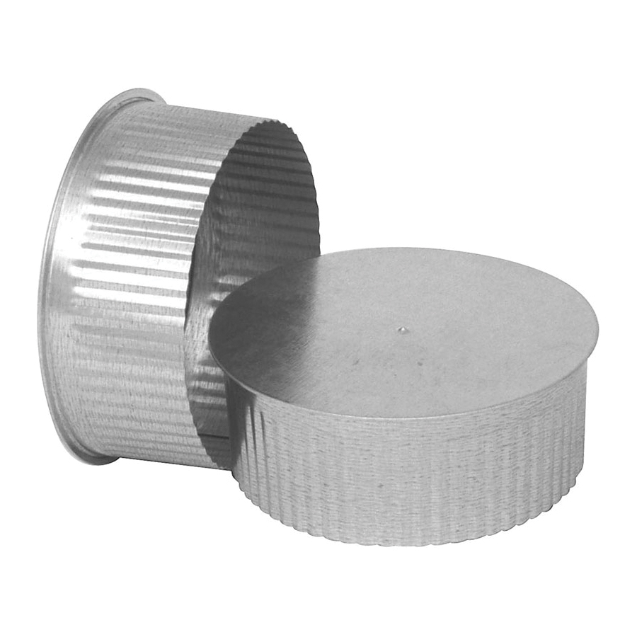 Picture of Imperial GV0734 Round End Cap, 5 in Connection, Galvanized