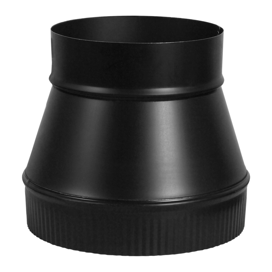 Picture of Imperial BM0063 Stove Pipe Increaser, 7 x 8 in, Black, Matte