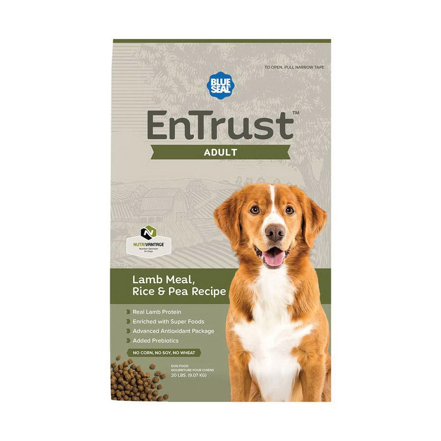 Picture of Blue Seal 3976-20 Entrust Dog Food, Dry, 20 lb Package, Bag