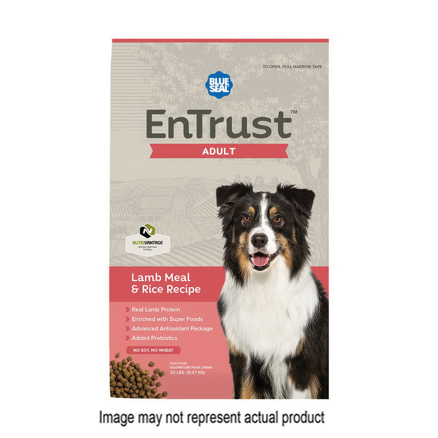 Picture of Blue Seal EnTrust 3973-40 Lamb Meal and Rice Recipe Dog Food, Dry, 40 lb Package, Bag