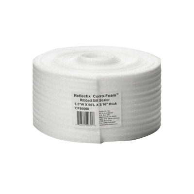Picture of Reflectix CF50550 Sill Sealer, 5-1/2 in W, 50 ft L Roll, Polyethylene, White