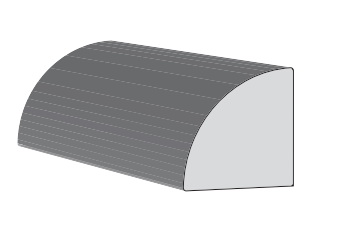 Picture of KLEER 5234 Quarter Round Moulding, 16 ft L, PVC