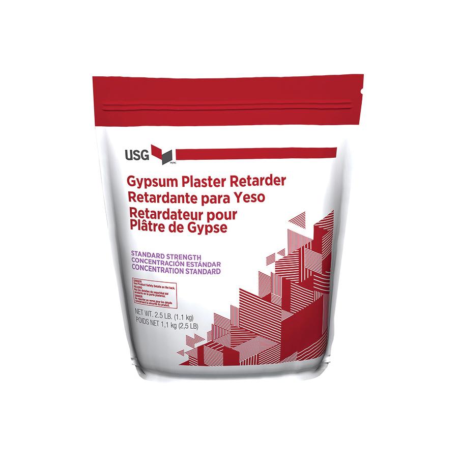 Picture of USG 160217 Gypsum Plaster Retarder, Solid, White, 2.5 lb Package, Bag