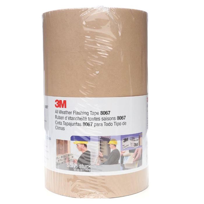 Picture of 3M 3MFLASHTAPE9 Flashing Tape, 75 ft L, 9 in W, Tan, 4, Case