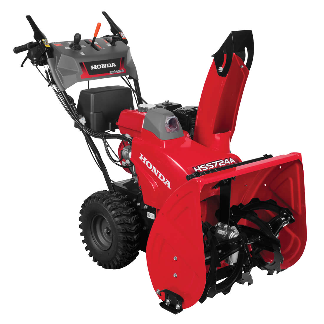 Picture of Honda HSS724AAWD Snow Blower, Gas, 196 cc Engine Displacement, 4-Cycle OHV Engine, 2 -Stage, 49 ft Throw