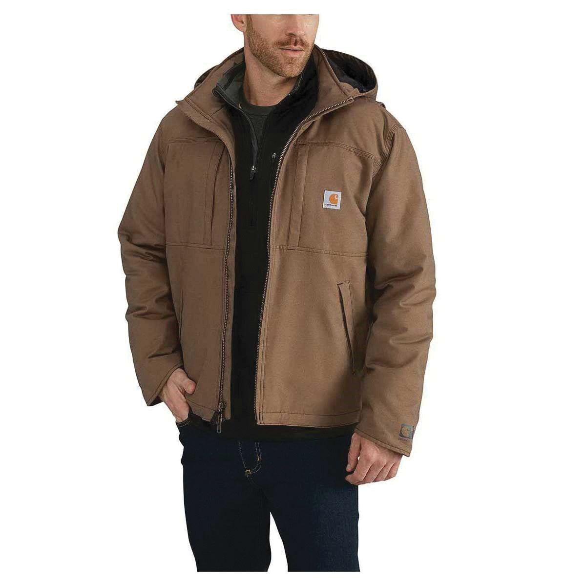 Picture of Carhartt 102207-908-L-R Cryder Jacket, L, 42 to 44 in Chest, Cotton/Polyester/Spandex, Canyon Brown, Regular