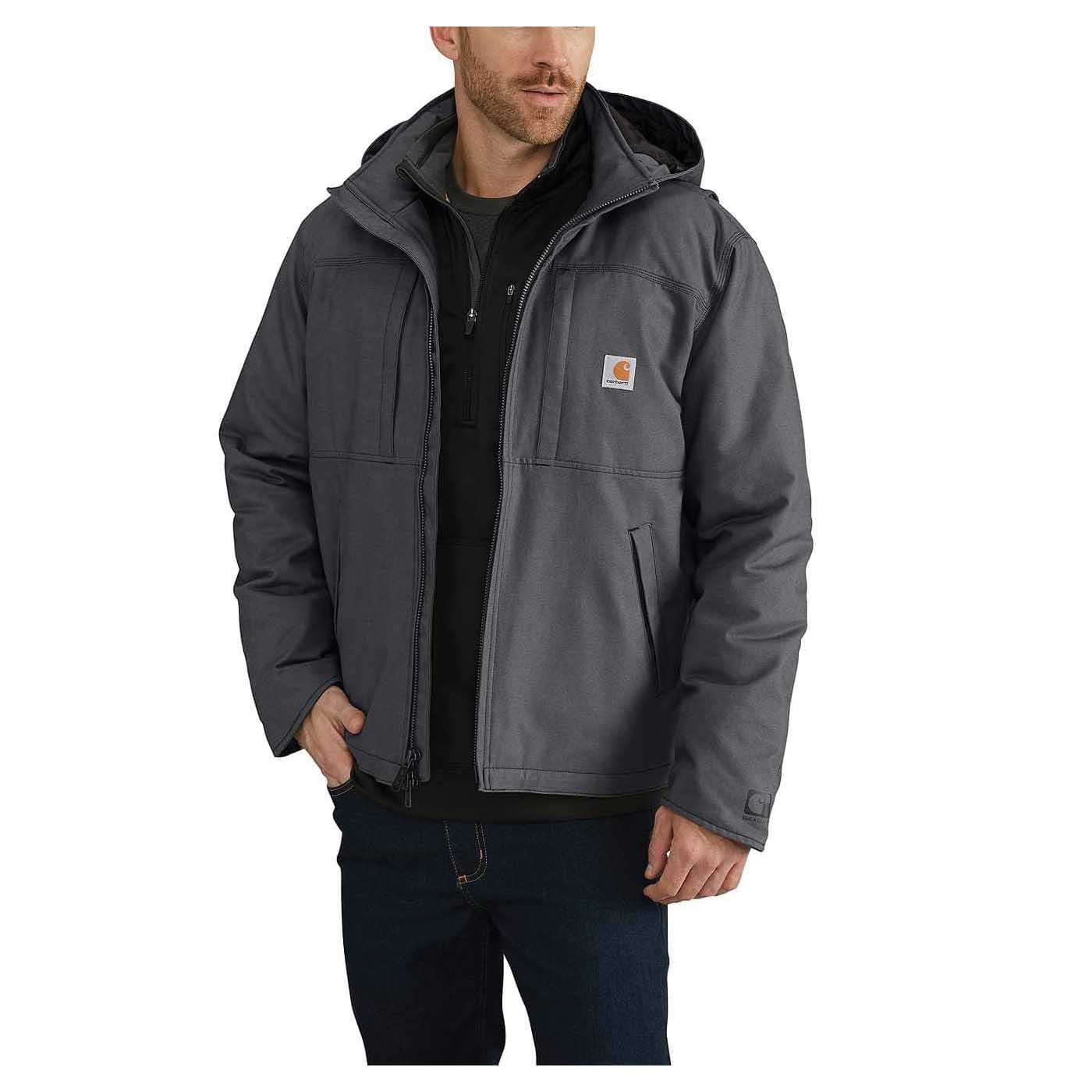 Picture of Carhartt 102207-029-2XL-T Cryder Jacket, 2XL, 50 to 52 in Chest, Cotton/Polyester/Spandex, Shadow, Mock Neck Collar