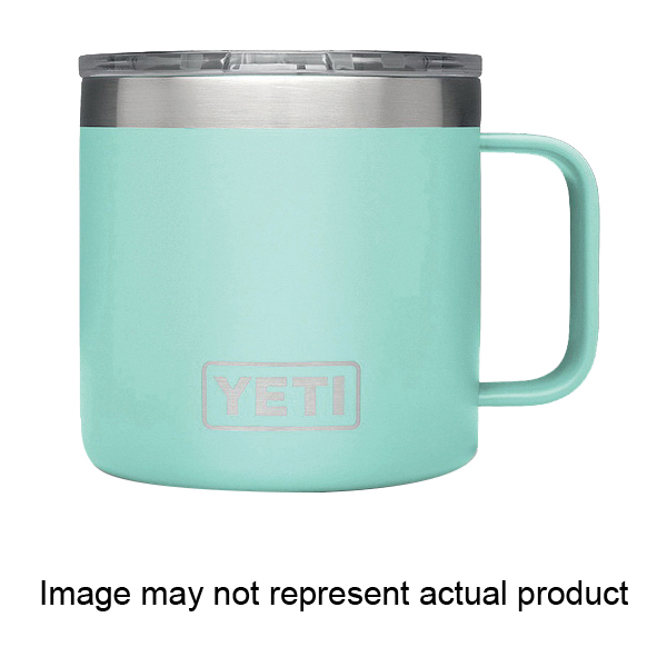 Picture of YETI Rambler 21071500027 Mug with Standard Lid, 14 oz Capacity, MagSlider Lid, 18/8 Stainless Steel, Reef Blue