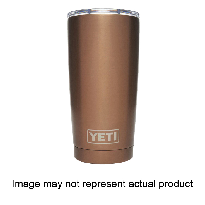 Picture of YETI Rambler 21071500052 Tumbler with Lid, 20 oz Capacity, MagSlider Lid, 18/8 Stainless Steel, Sand, Insulated