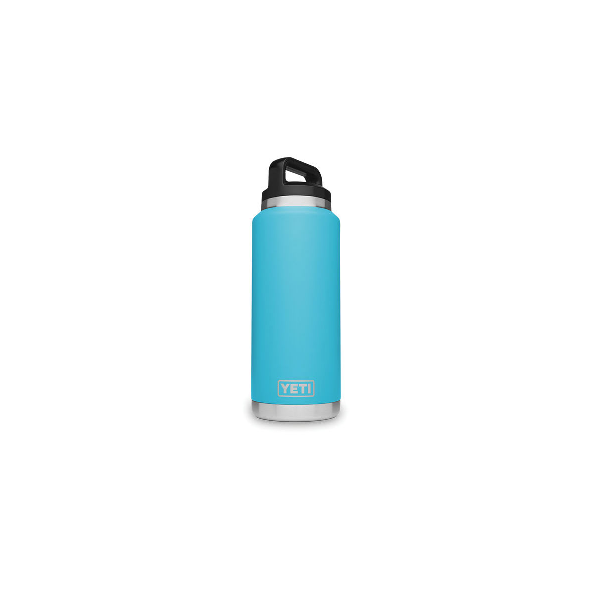 Picture of YETI Rambler 21071500115 Bottle with Chug Cap, 36 oz Capacity, Stainless Steel, Reef Blue
