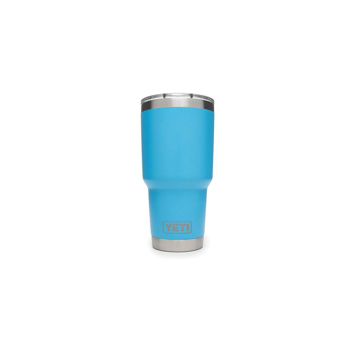 Picture of YETI Rambler 21071500029 Tumbler with Lid, 30 oz Capacity, MagSlider Lid, 18/8 Stainless Steel, Reef Blue
