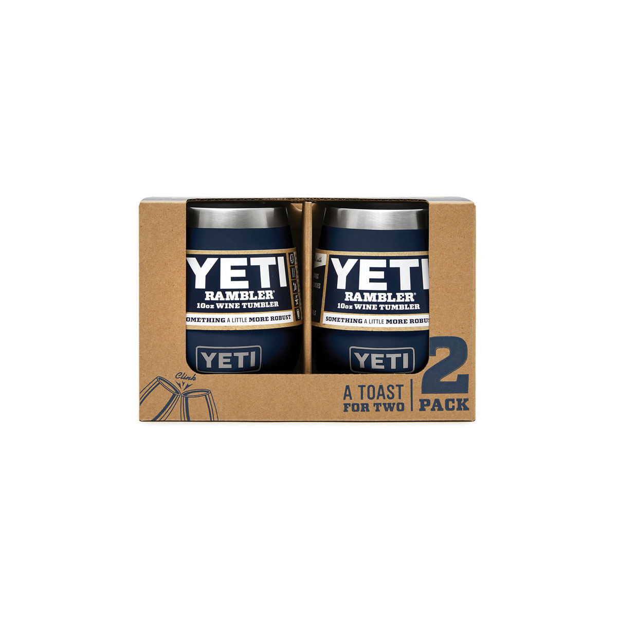 Picture of YETI 21071500031 Wine Tumbler, 10 oz Capacity, Stainless Steel, Reef Blue, Dishwasher Safe: Yes, 2, Pack
