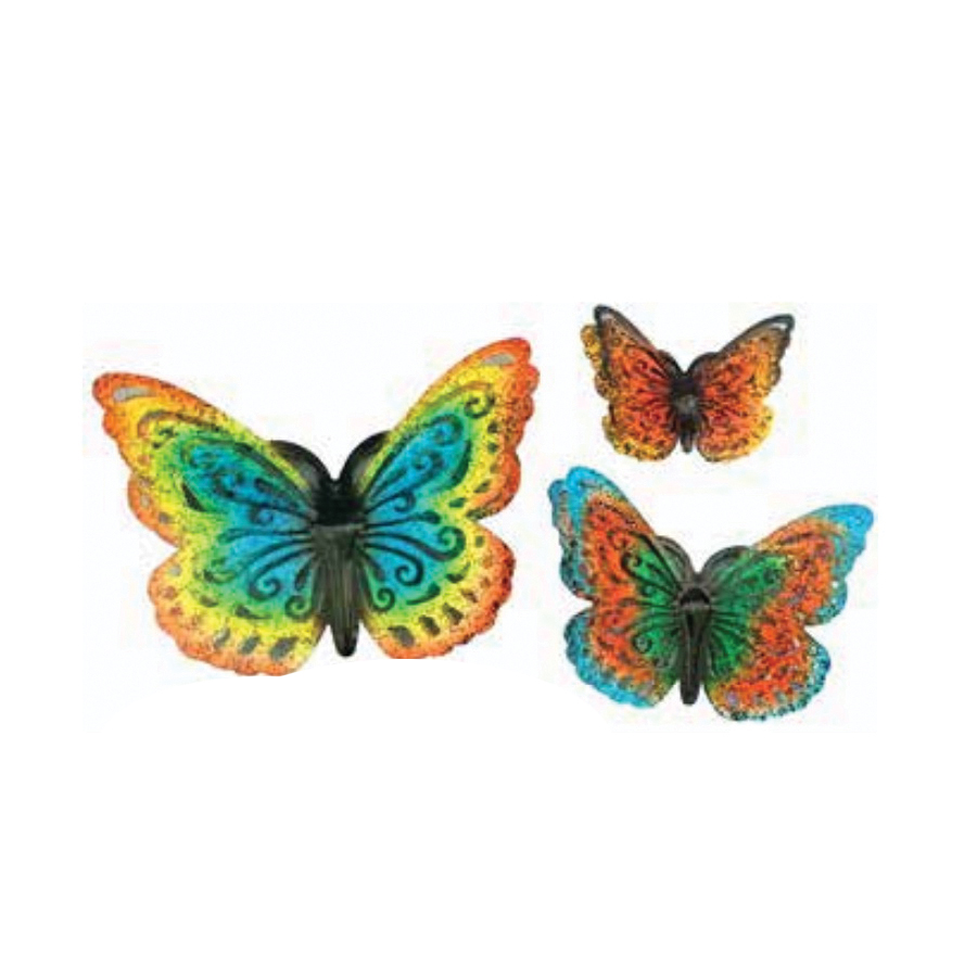 Picture of Very Cool Stuff V15 MBFS3 Butterfly Wall Decor Set, Metal