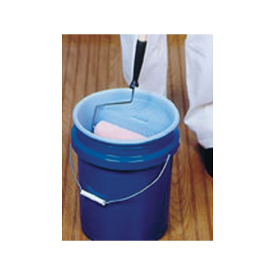Picture of ENCORE Plastics ProLin'r 05180 Pail Liner with Roller Grid, 5 gal Capacity, Plastic, White