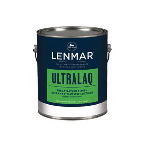 Picture of Lenmar UltraMax 1D.354.1NF Precatalyzed Lacquer, Satin, Liquid, White, 1 gal