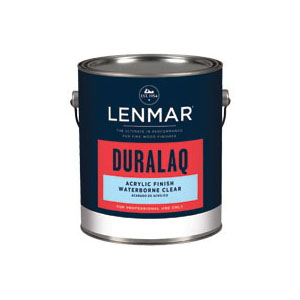 Picture of Lenmar DuraLaq-WB 1WB.104.1 Waterborne Acrylic Finish, Satin, Clear, 1 gal