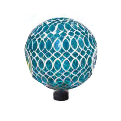 Picture of Very Cool Stuff V15 GLMTG102 Gazing Globe, 10 in Dia, Glass, Turquoise