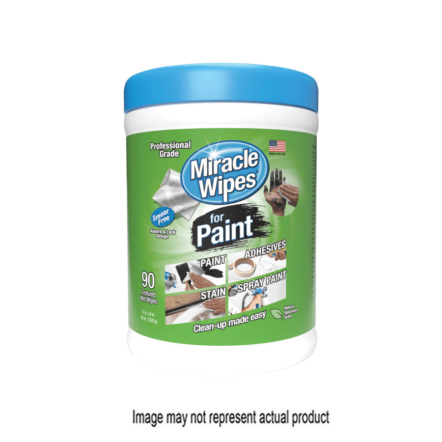 Picture of Miracle Wipes 3348 Cleaning Wipes, 6 in L, 12 in W, 5