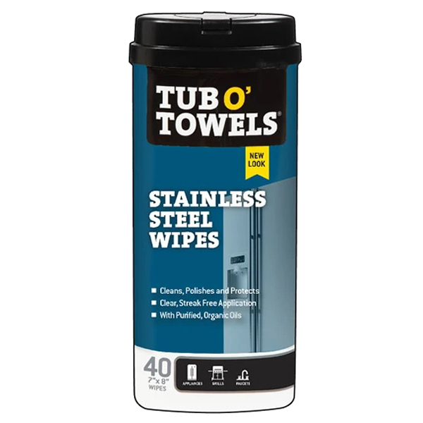 Picture of Tub O'Towels TW40-SS Cleaning Wipes, 8 in L, 7 in W, 1 -Ply, Floral, Polypropylene, 40