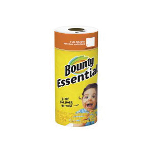 Picture of Bounty 84683 Essential Paper Towel, 11 in L, 10.4 in W, 2 -Ply, 12