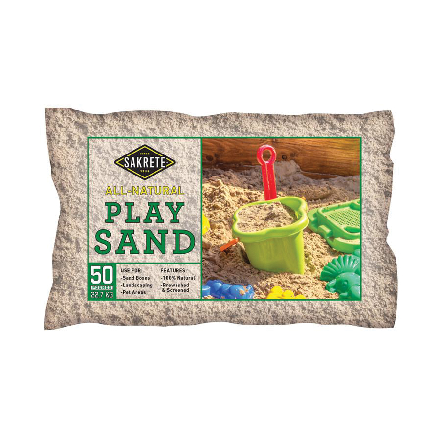 Picture of SAKRETE 40100301 Play Sand, Tan, 6 sq-ft Coverage Area, 50 lb Package, Bag