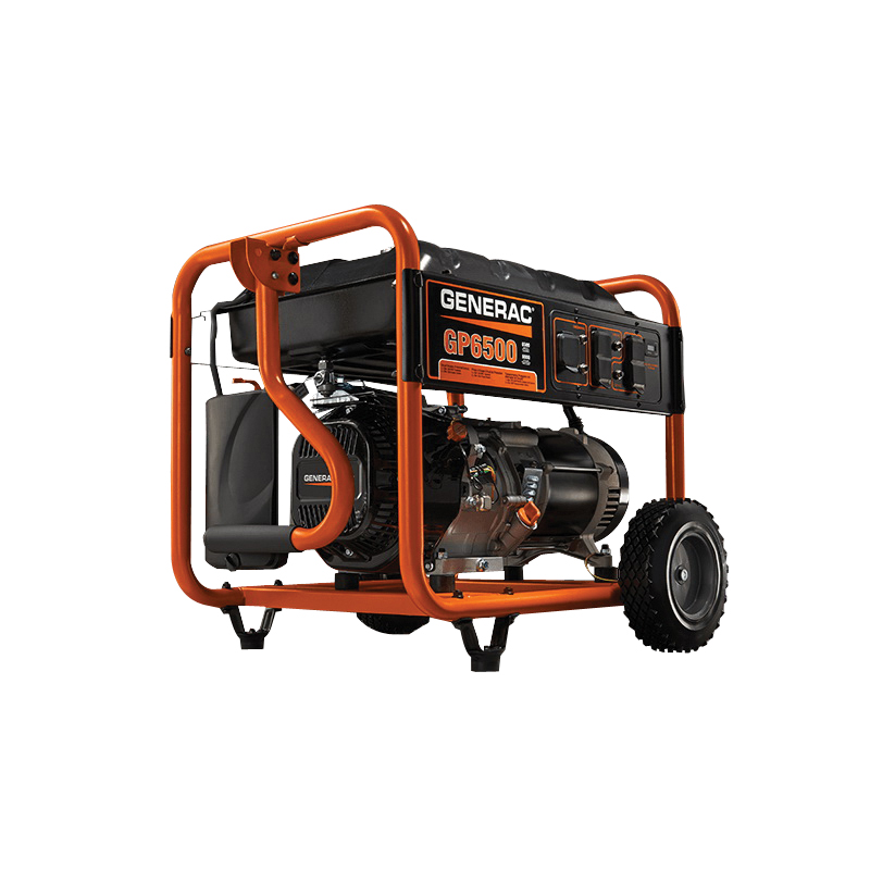 Picture of GENERAC GP Series 5940 Portable Generator, 67.8/33.9 A, 120/240 VAC, 8125 W Output, Gasoline, 7.2 gal Tank