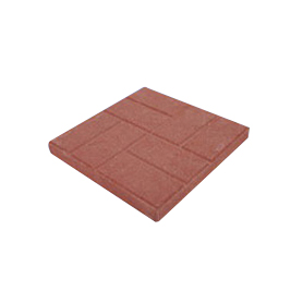 Picture of SOIL DOCTOR 10050370 Brick Embossed Stone, 16 in L, 16 in W, Red