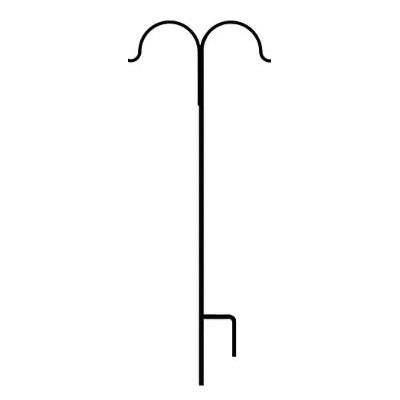 Picture of AMERICAN GARDENWORKS A95 TD Shepherd Hook, 2 -Hook, Iron/Steel, Black, Powdered