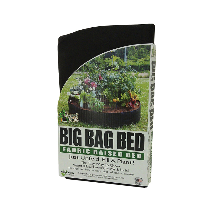 Picture of BIG BAG BED H68 12015RB Raised Bed, 24 in L, 8 in W, Black