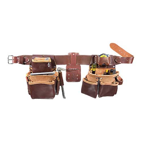 Picture of Occidental Leather 5080DB XL Tool Belt Set, 40 to 44 in Waist, Leather, Brown, 22 -Pocket