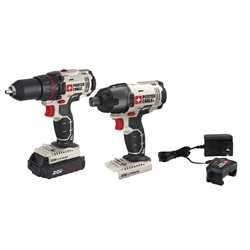 Picture of PORTER-CABLE PCCK604LA Combo Kit, 2 -Tool, Tools Included: Yes, Battery Included: Yes