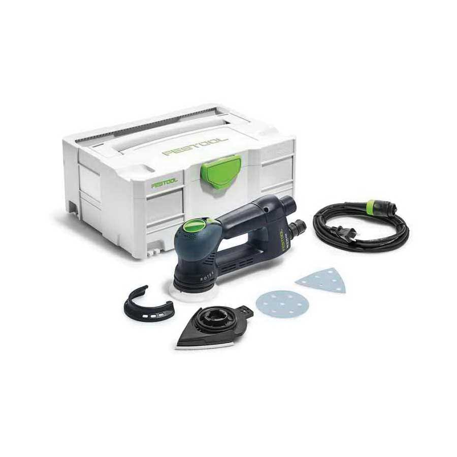 Picture of Festool RO90DX Multi-Mode Sander, 120 V, 3.3 A, 400 W, 3-1/2 in Pad/Disc, 260 to 520 rpm No Load