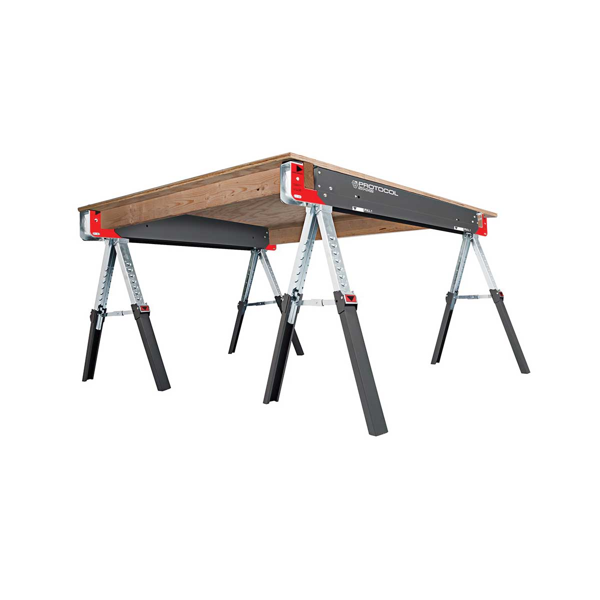 Picture of PROTOCOL 67104 Work Table, 42 in OAW, 6 in OAD, 32 in OAH, 2600 lb, Steel Surface