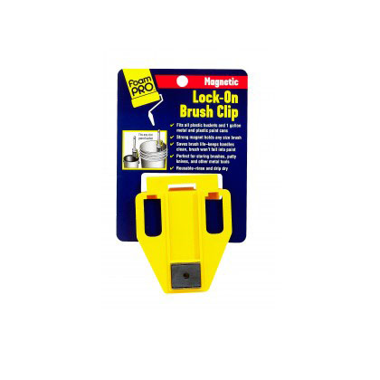 Picture of FOAMPRO 130 Magnetic Brush Clip, Clamp-On, For: 1 gal Paint Can, Plastic Pail, 20, Pack