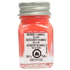 Picture of TESTORS 1127TT Enamel Paint, Gloss, Orange, 0.25 oz, Bottle