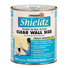 Picture of ZINSSER Shieldz 02104 Acrylic Wall Size, Clear, 1 qt, Gloss, Liquid