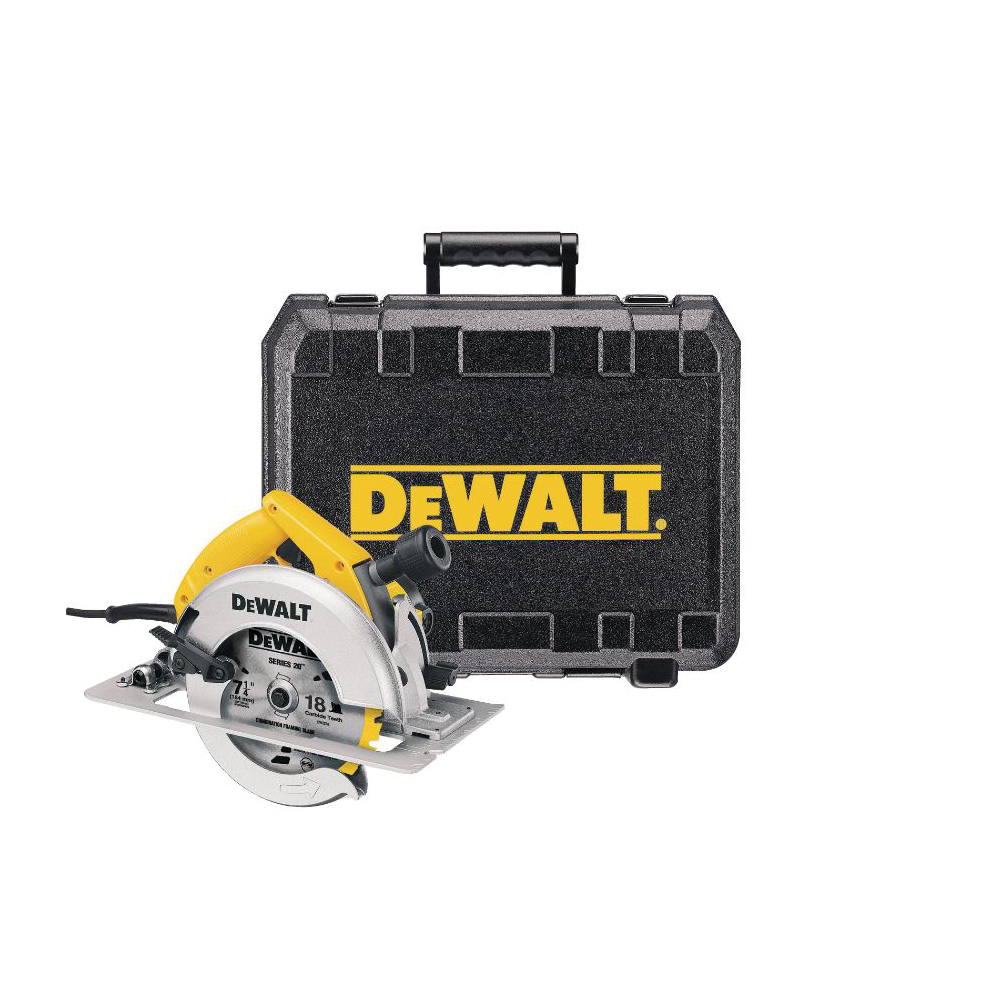 Picture of DeWALT DW364K Circular Saw Kit, 120 V, 15 A, 2075 W, 7-1/4 in Dia Blade, 5/8 in Arbor, 50 deg Bevel