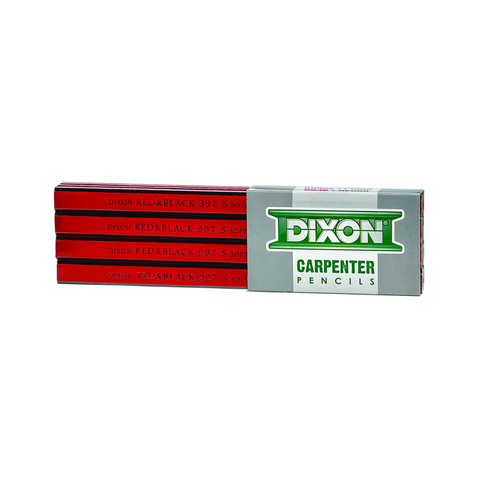 Picture of Dixon by Toconderoga 14100 Carpenter Pencil, Black/Red, 7 in L