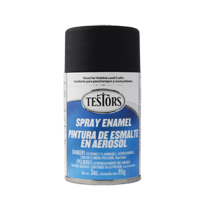 Picture of TESTORS 1249T Craft Paint, Flat, Black, 3 oz, Bottle