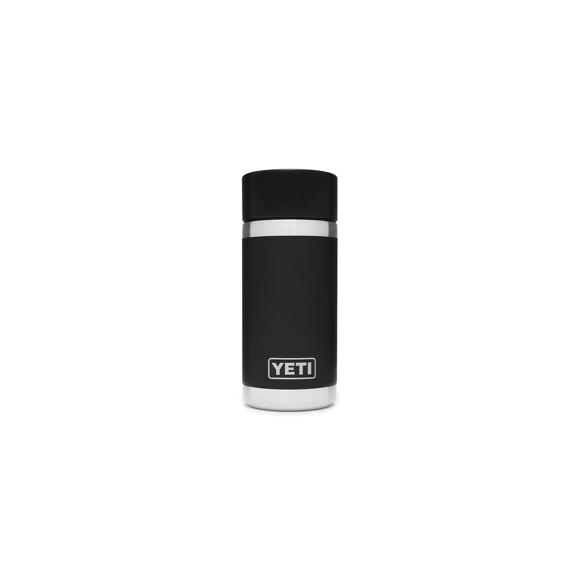 Picture of YETI Rambler 21071050006 Bottle with Hotshot Cap, 12 oz Capacity, Stainless Steel, Black