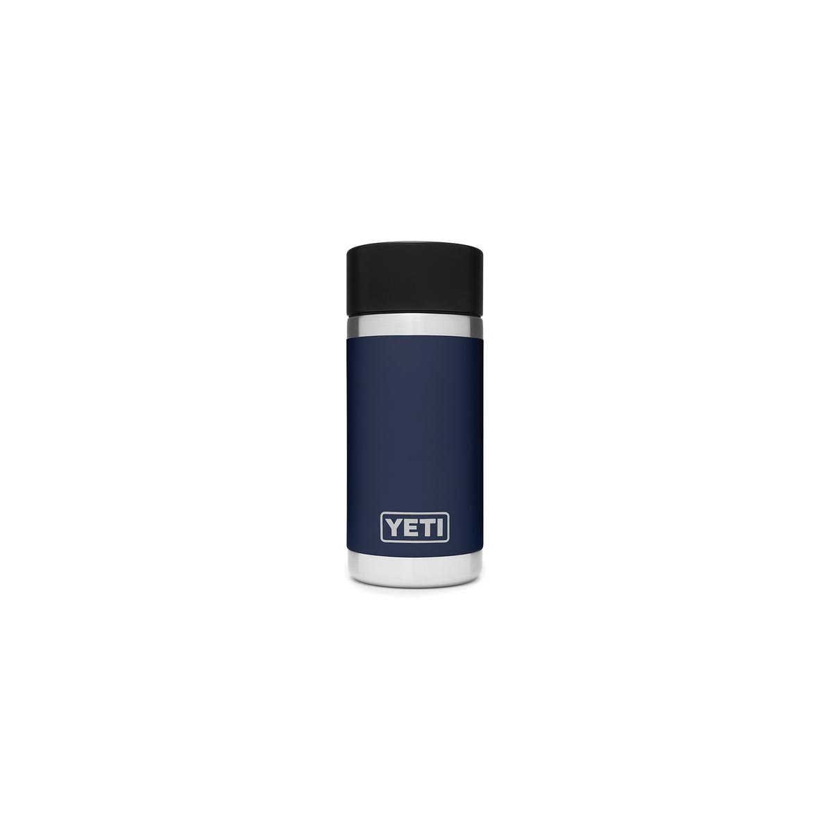 Picture of YETI Rambler 21071050010 Bottle with Hotshot Cap, 12 oz Capacity, Stainless Steel, Navy