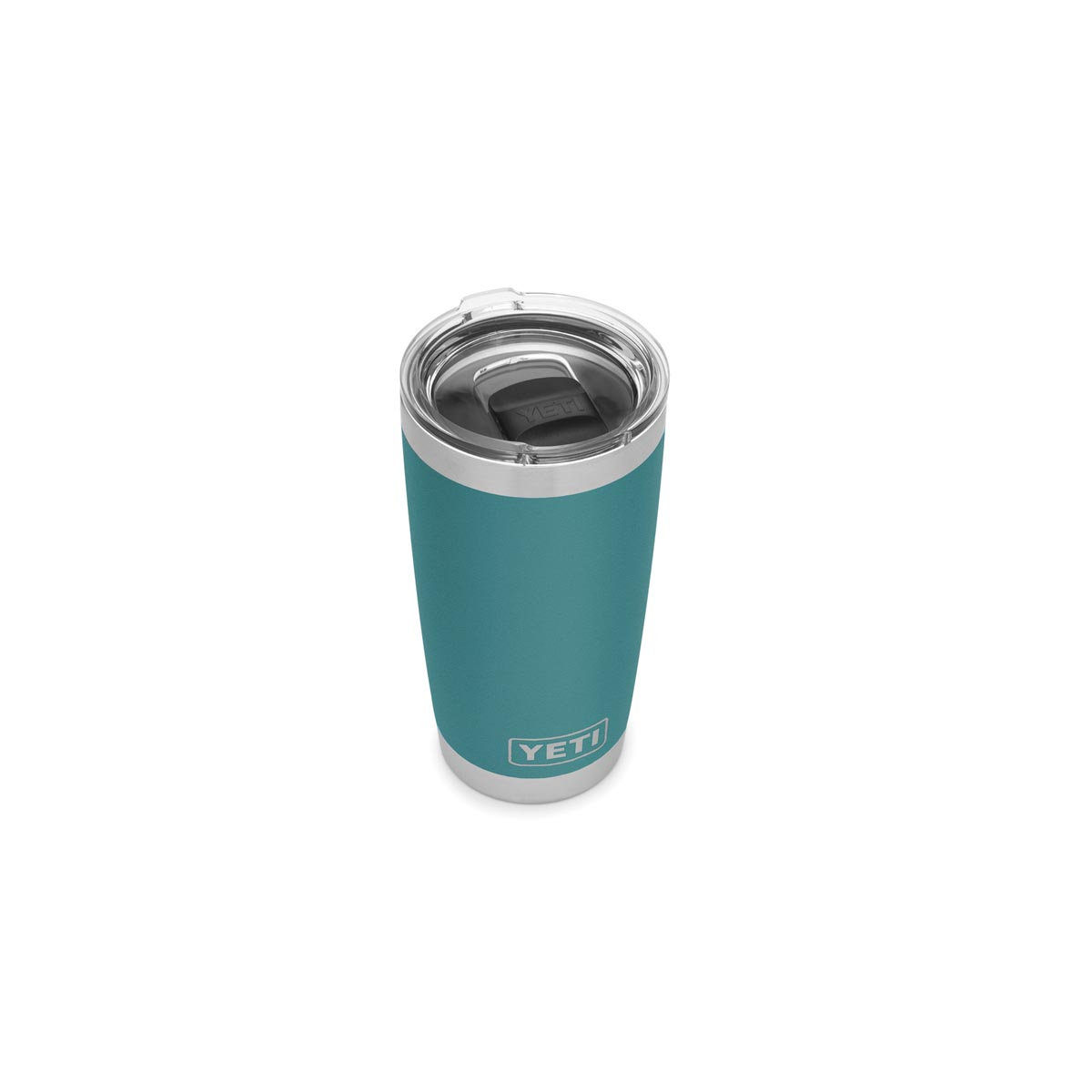 Picture of YETI Rambler 21070060057 Tumbler, 20 oz Capacity, MagSlider Lid, Stainless Steel, River Green, Insulated