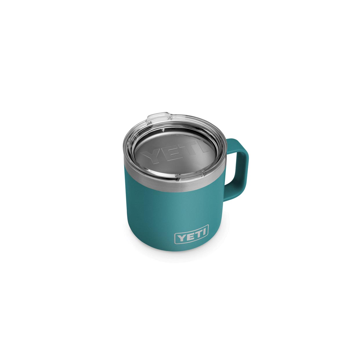 Picture of YETI Rambler 21071300237 Mug, 14 oz Capacity, Stainless Steel, River Green, Insulated