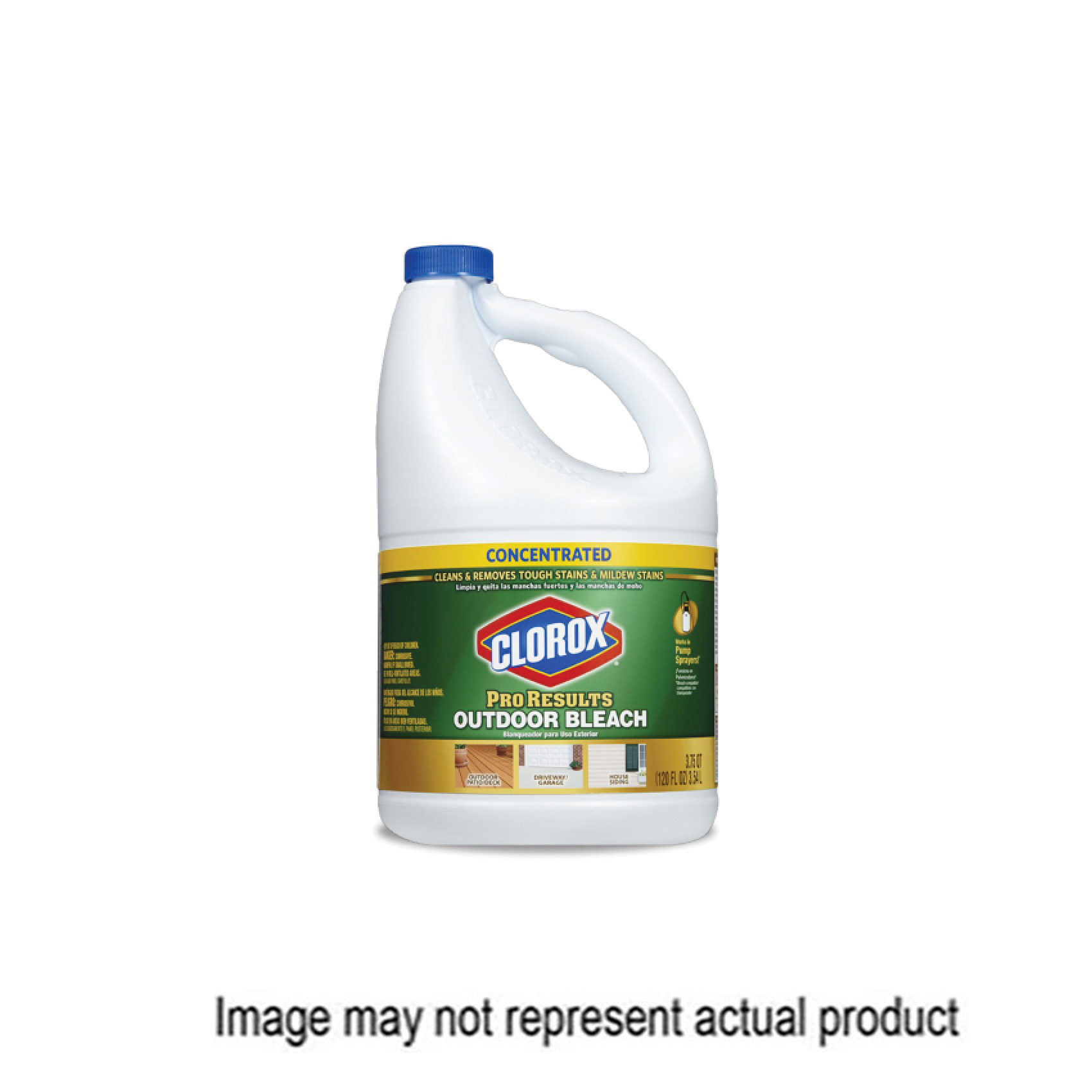 Picture of Clorox ProResults 32438 Outdoor Bleach, 81 oz Package, Liquid, Bleach, Pale Yellow