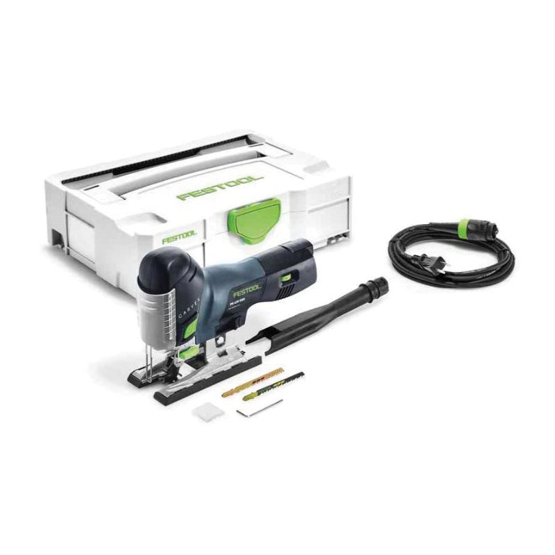 Picture of Festool 561593 Jig Saw, 400 W, 3/4 in Non-Ferrous Metal, 3/8 in Steel, 4-3/4 in Wood Cutting Capacity, 1 in L Stroke