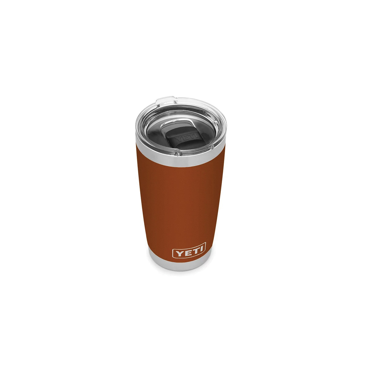 Picture of YETI Rambler 21070060058 Tumbler with Lid, 20 oz Capacity, MagSlider Lid, 18/8 Stainless Steel, Clay, Insulated