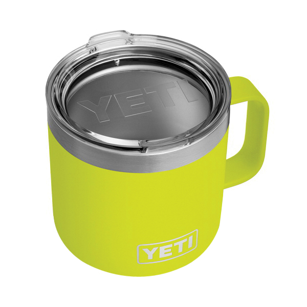Picture of YETI Rambler 21071500222 Mug with Standard Lid, 14 oz Capacity, MagSlider Lid, 18/8 Stainless Steel, Chartreuse
